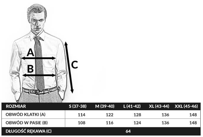 tabela rozmiarów olymp comfort fit