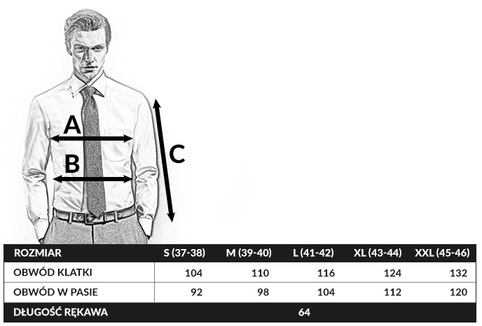 tabela rozmiarów olymp body fit