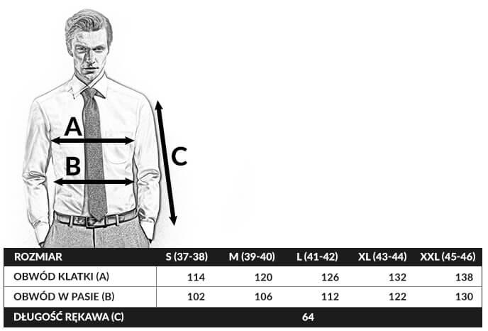 tabela rozmiarów olymp modern fit
